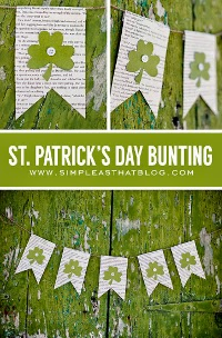 Banner bunting garland for St. Patrick's Day celebrations