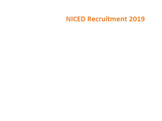 NICED Recruitment 2019-at www.niced.org 04 Field Consultant Vacancies | Walk In Interview Application Form
