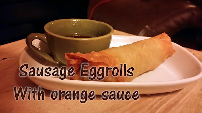 best ever sausage and cabbage egg roll with orange marmalade asian dipping sauce and sesame oil, recipes using seame oil, ground sausage egg roll, jimmy dean sausage egg roll