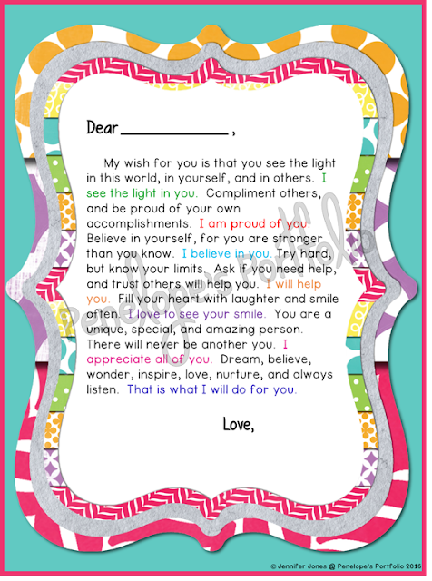 Letter to Student - Colorful Version
