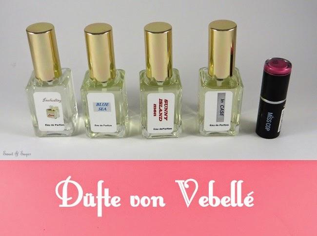 [Produkttest Nr.36] Düfte von Vebellé Cosmetics