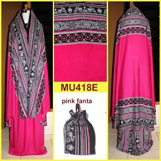 mukena bali motif songket warna pink fanta mu418e