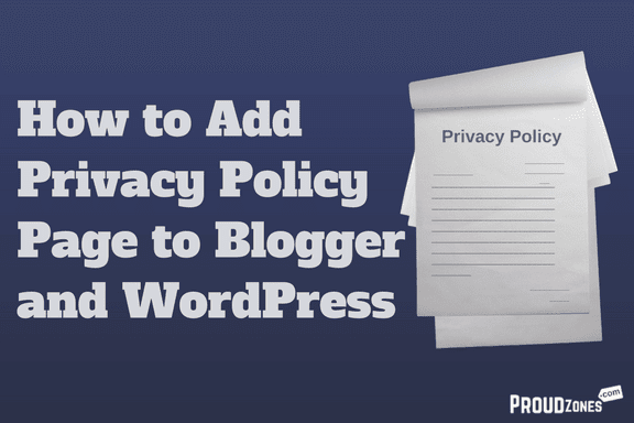 adding privacy policy to blogger wordpress