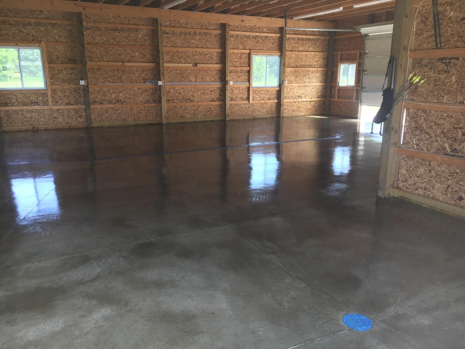 Hobby Garage legacy industrial s site warm satin gloss concrete floor