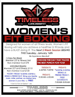 Women's FIT Boxing - next session starting -Tuesday, Jan 16
