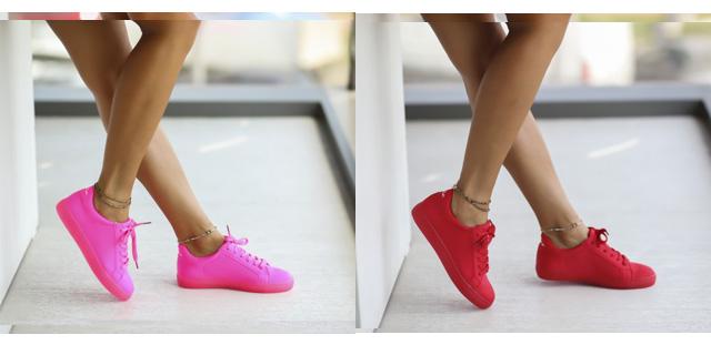 Adidasi femei de vara ieftini la moda rosii, roz neon petru tinute fahsion