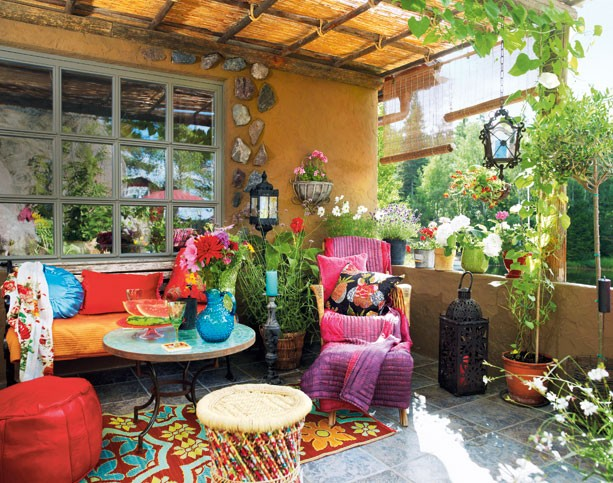 Color Outside The Lines Small Living Room Decorating Ideas: GYPSY YAYA: The Great Outdoors~ Bohemian Decor Al Fresco