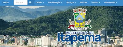 Site da Prefeitura de Itapema