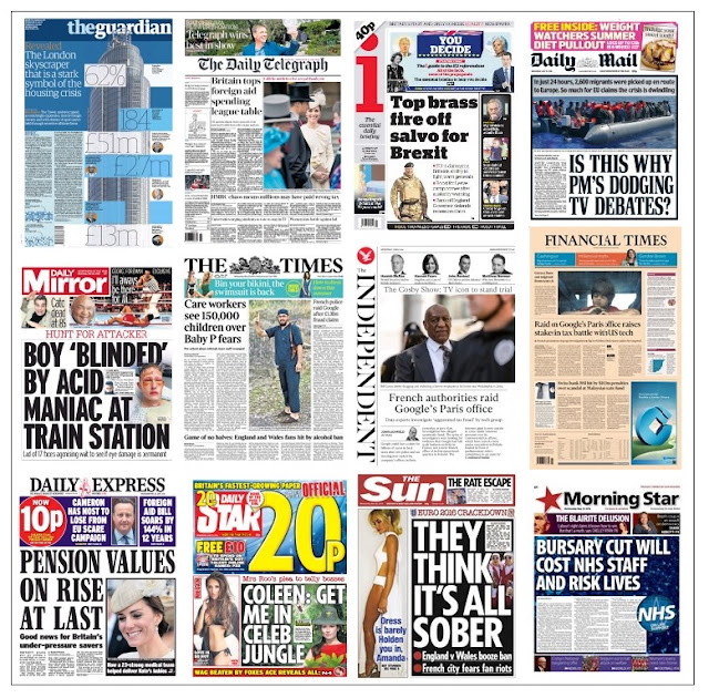 front pages 25-05-16