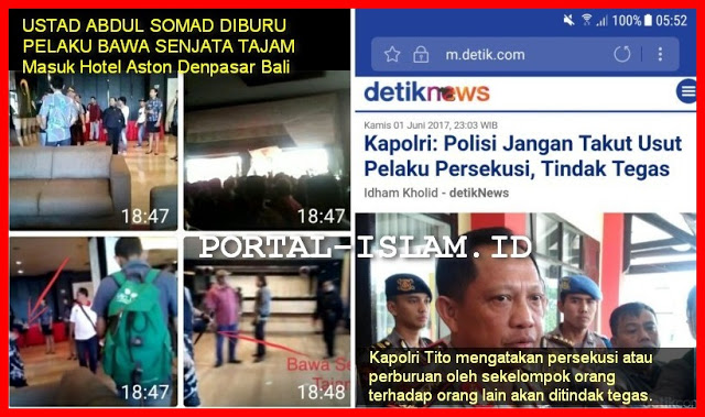Ustad Abdul Somad Diburu Pakai Senjata Tajam di Bali: Pak Kapolri, Kapan Pelaku Persekusi Ini Ditindak Tegas?