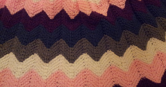 Knitted Chevron (ripple) Afghan