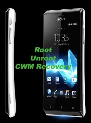 عمل روت لجهاز سوني اكسبريا جي Sony Xperia J وتثبيت الريكفري CWM recovery