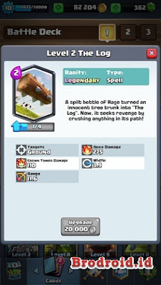 The Log Kartu Legendary Clash Royale
