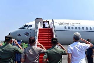 Presiden Jokowi Terbang Ke Palu Hari ini