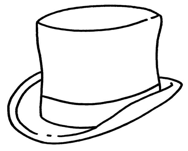 Desenho para colorir. Desenho de chapéu para pintar