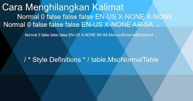 cara mudah mengatasi  Normal 0 false false false EN-US X-NONE X-NONE ... pada postingan blog