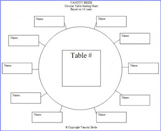banquet seating chart template