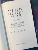 The Nuts and Bolts of Life: Willem Kolff and the Invention of the Kidney Machine, by Paul Heiney, superimposed on Intermediate Physics for Medicine and BIology.