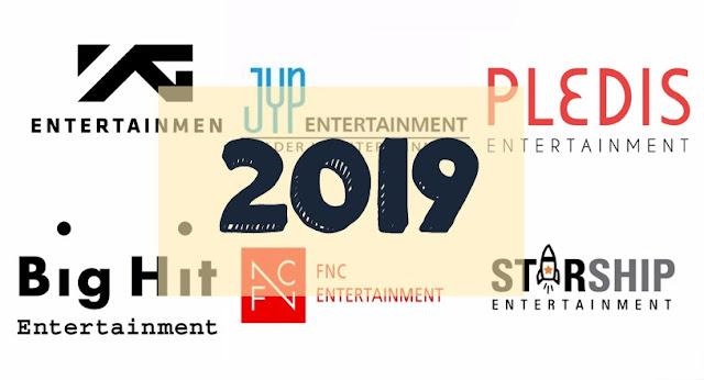 kpop 2019 agencias entretenimiento corea