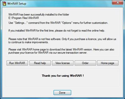 Download and install Winrar Application in window 7 - Step 5