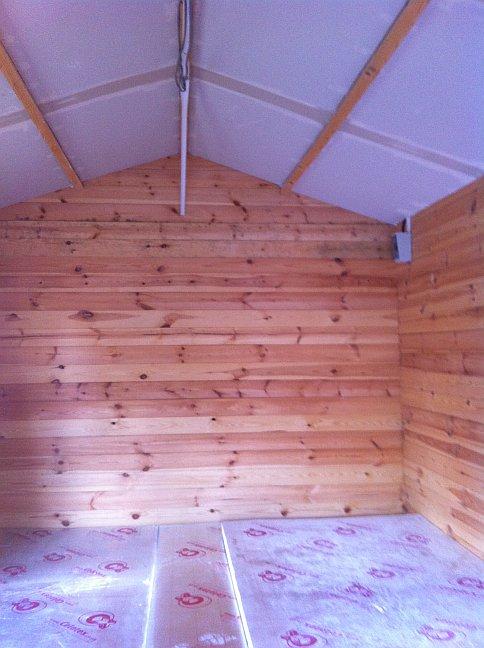 Cabin Living Retrofitting Insulation In A Garden Office