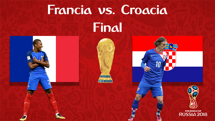 Francia vs. Croacia - En Vivo - Online - Final - Rusia 2018