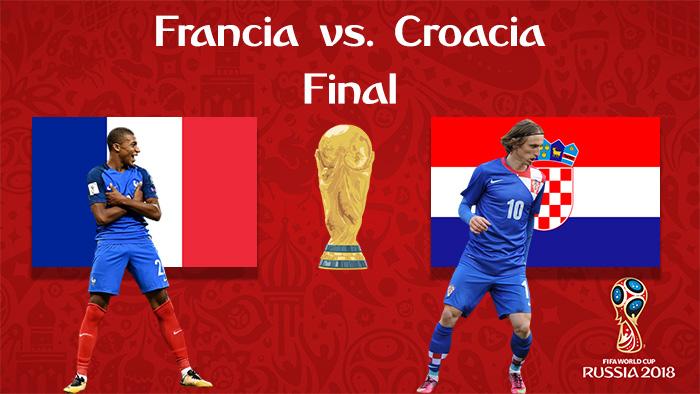Francia vs. Croacia - En Vivo - Online - Final - Rusia 2018