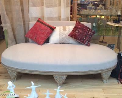 White Wash Oval Sofa Anni