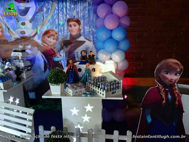 Decoração de festa infantil Frozen - Aniversário