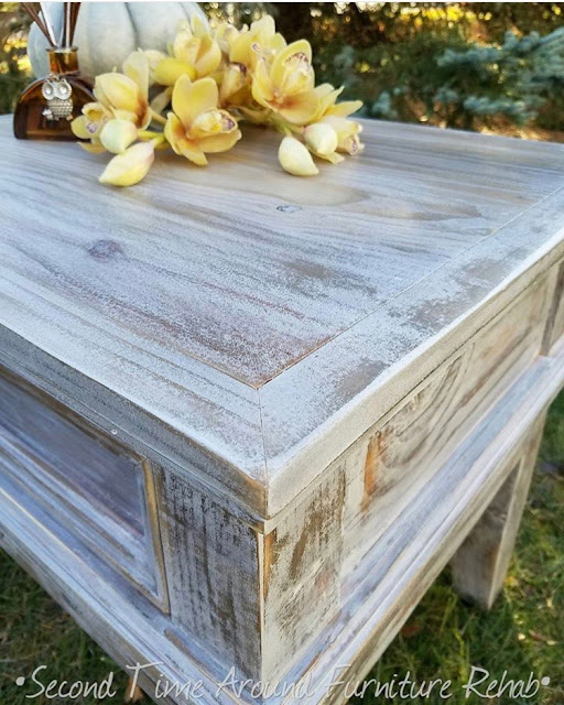 Rustic Pine Table Makeover with #Weatherwood