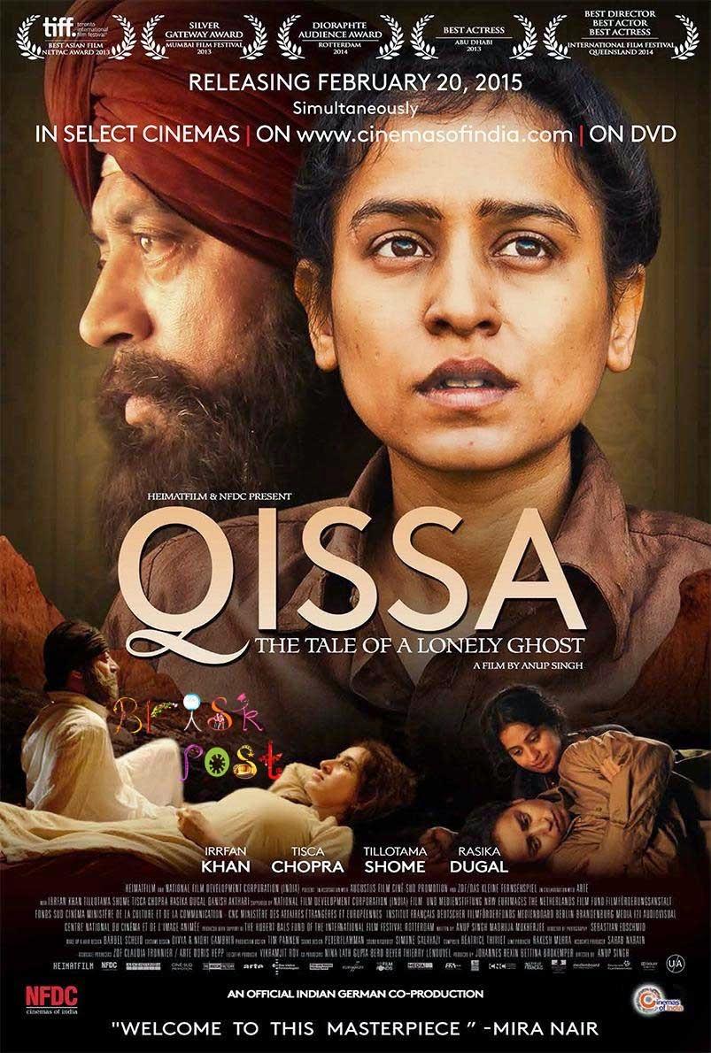Irrfan Khan, Tisca Chopra, Tillotama Shome, and Rasika Dugal in Qissa movie Poster