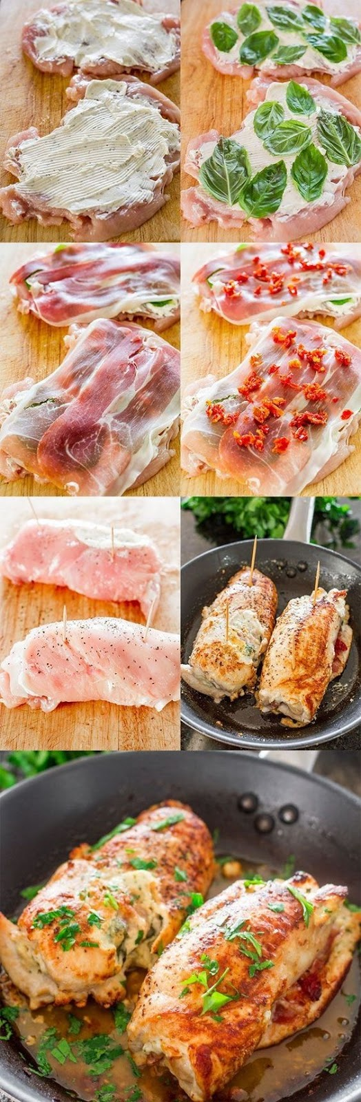 Cheese and Prosciutto Stuffed Chicken Breasts