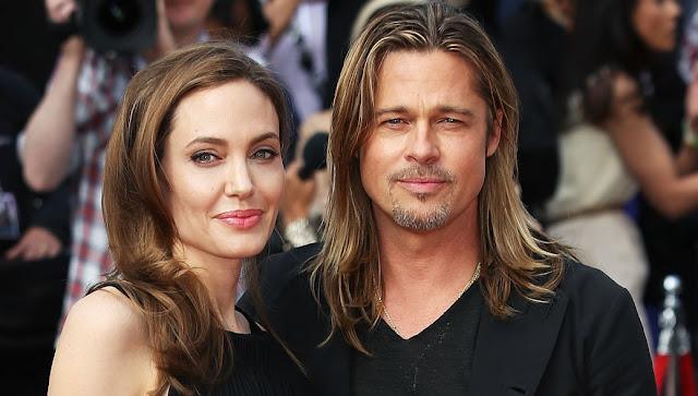 Most Shocking Celebrity Break-ups in 2016 Angelina Jolie and Brad   Pitt