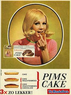 Jaren 60 - reclame Pims cake