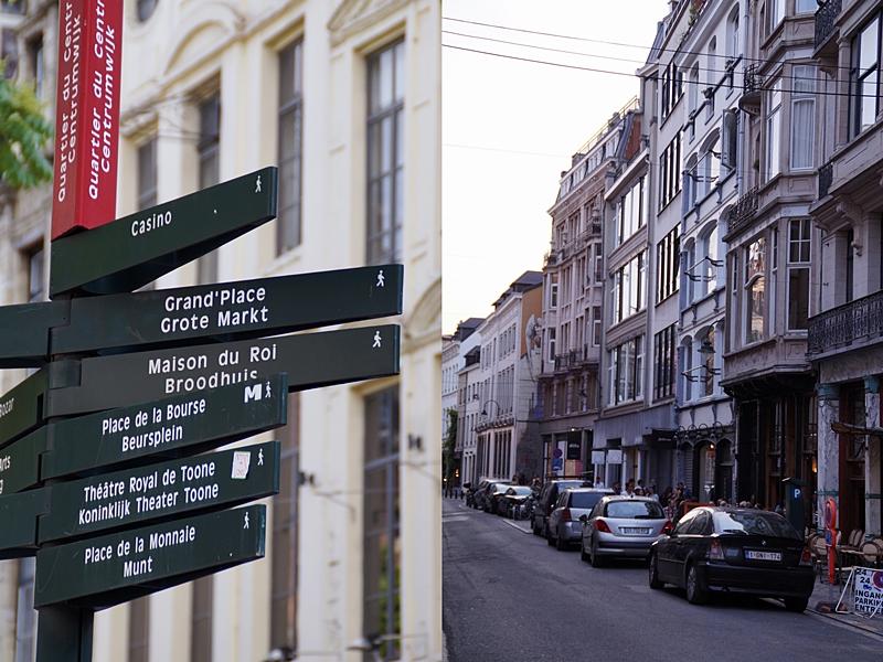 Brüsseler Straßen und Attraktionen im Sommer