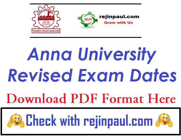 Anna University Time Table Addition Changes