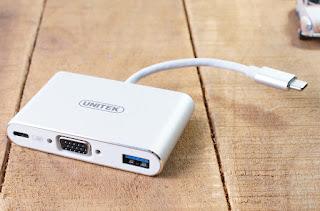 HUB Adapter USB C to USB, VGA, USB C