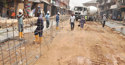 Photos: Rehabilitation of Brown street by the LASG in progress -  Oshodi