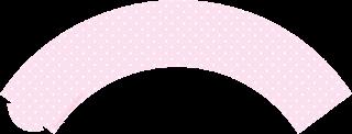 Wrappers para cupcakes de Lluvia de Bendiciones en Rosa y Celeste.