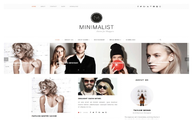 Masonry Gallery Grid Layout Minimalist Blogger Template Free Download