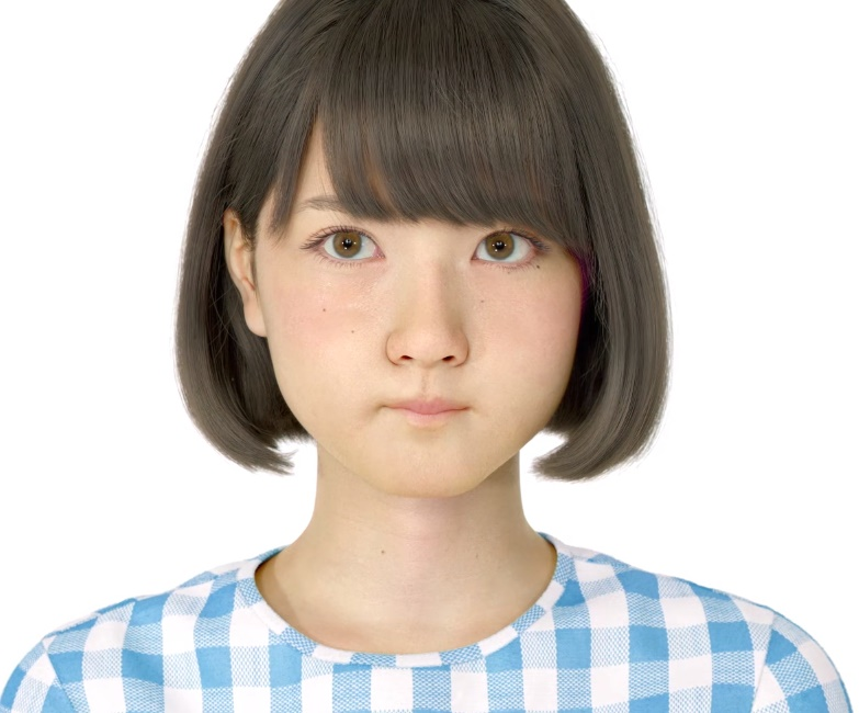 リアル過ぎるとネットで話題!進化した「3D 仮想 美少女 Saya