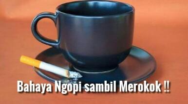 Bahaya Minum Kopi Sambil Merokok