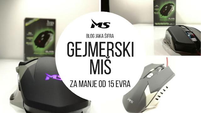 Najbolji gejmerski miš za manje od 15€ | MS Blade PRO PGM 4000 DPI