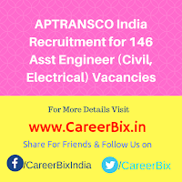 APTRANSCO India Recruitment for 146 Asst Engineer (Civil, Electrical) Vacancies