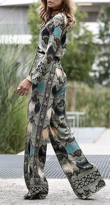 trendy printed jumpsuit