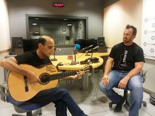 """Imagen de Al cante: Félix Crujera """"El Sevillano"""" A la guitarra: Javier Romanos en Onda Madrid, septiembre 2016"""