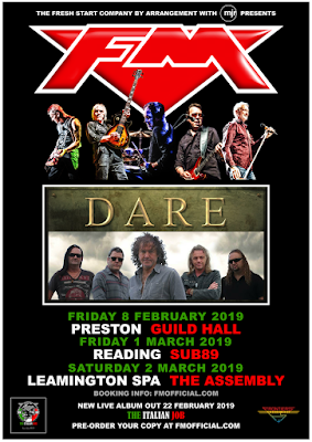 FM + Dare - 2019 UK tour dates - poster