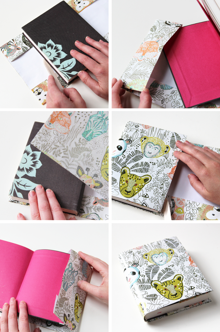 HOW TO MAKE YOUR OWN GIFT WRAP BOOK COVERS.
