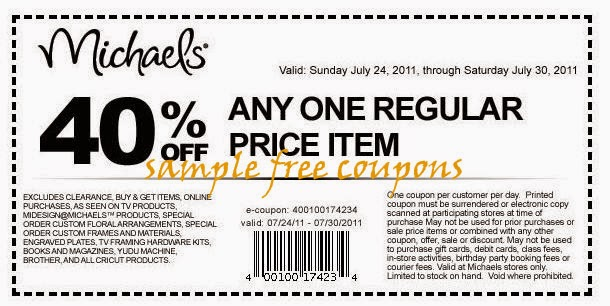 Michaels Craft Store Coupon Code