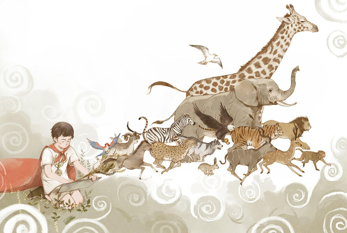 02-In-our-Heads-Xingye-Jin-Surrealism-and-Imaginative-Illustrations-www-designstack-co